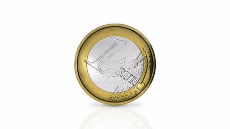 mince : Rolling one euro coin in loop