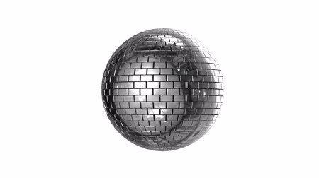 disko : Disco ball with alpha channel  Stok Video