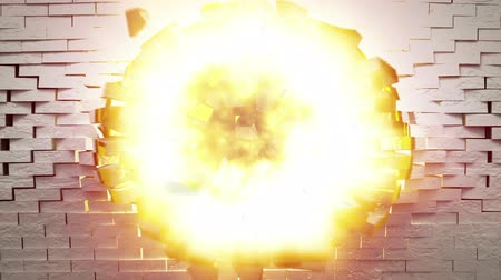 ajudar : RADIOACTIVE sign on wall explosion with fireball   alpha