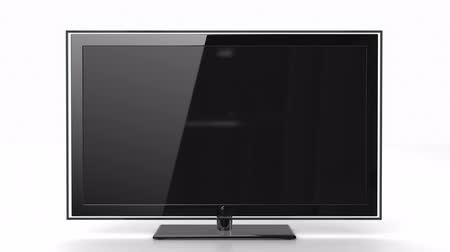 определение : Entering HDTV screen  Стоковые видеозаписи