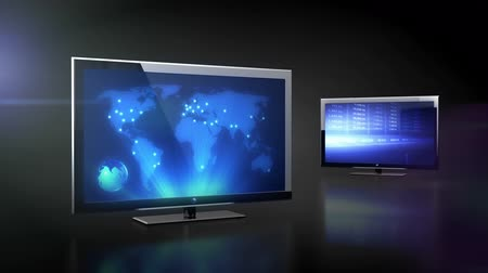 сообщить : LCD TV with bussines data projection