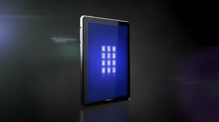 computer concept : Tablet with media in motion
