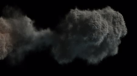 canal : Explosion with dark smoke