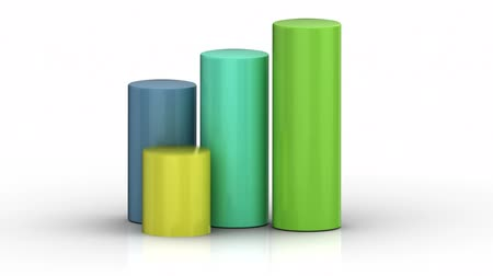 business values : Cylinder chart growing  Stock Footage