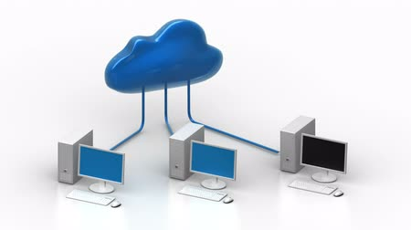 red social : Cloud computing - red  Archivo de Video