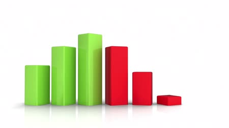planı : Bar Chart - Growth and Recession  Stok Video
