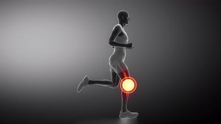 diz : Runnig man focused on knee joint