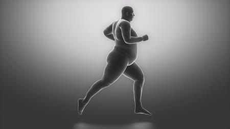 obesidade : With sport to healthy lifestyle  obesity concept