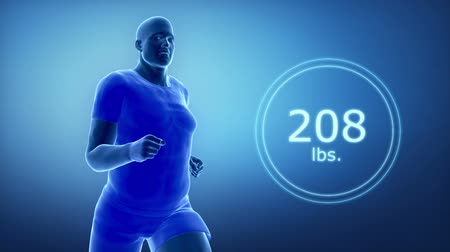 sprintel : Running man from fat to fit in Lbs.
