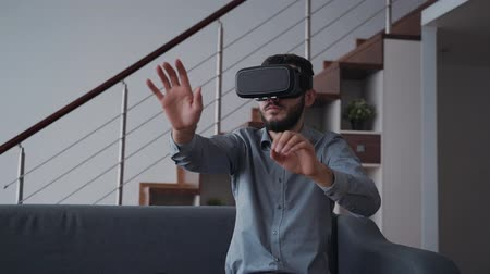 jel : Creative innovation way of working at office being at home. Professional interactive wearable headset technology. New project of startup and business in smart 34 virtual reality. Management simulation and successful cyber device.