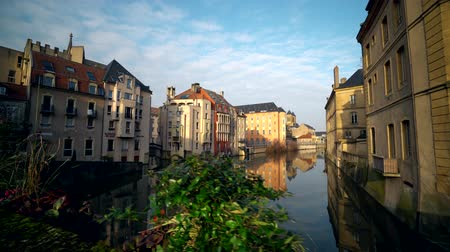 neuf : Metz city view, France. Old city on Moselle river.