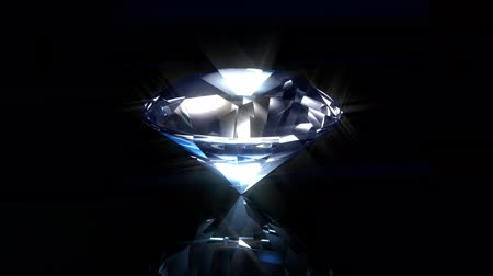 rombusz : Blue Diamond on Black Background. Looped animation