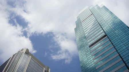 architektura : Corporate building and clouds time lapse Wideo