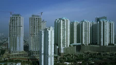 indonesia : Video footage of aerial view of apartment building in Jakarta, Indonesia Stock Footage