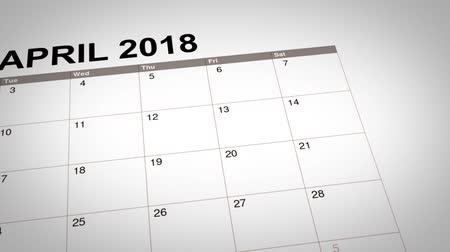 miraj : Closeup of Isra Miraj day date reminder marked on a calendar of year 2018