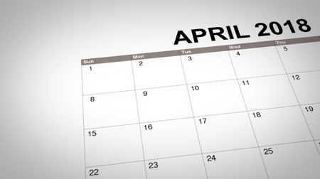 travessura : Closeup of April fools day reminder, marked on a calendar of year 2018 Vídeos