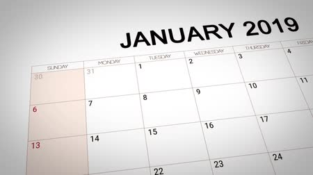 gidermek : New year resolution to diet marked on the date of 1 January 2019 Stok Video