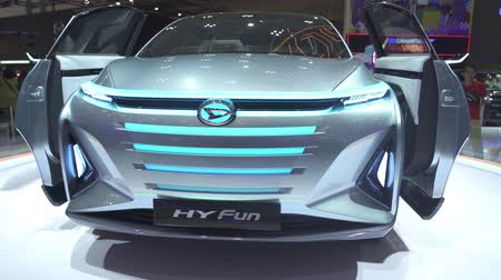 autohaus : JAKARTA, Indonesien - 23. Juli 2019: Neues Daihatsu HY-FUN-Auto, das in der GAIKINDO Indonesia International Auto Show (GIIAS) 2019 auf der Indonesia Convention Exhibition (ICE) gezeigt wird