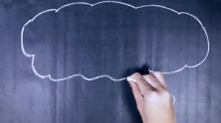 english class : Time lapse of woman hand drawing speech bubble with Learn English text on the blackboard