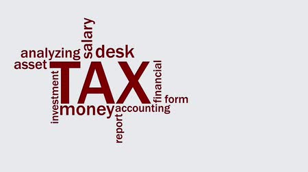 Tax word cloud animation. Text design typography animation in 4k resolution Wideo