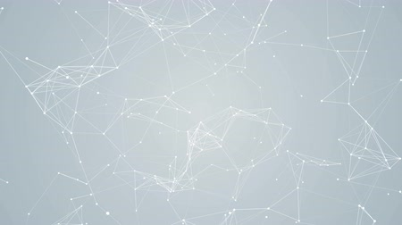 fundo branco : Plexus abstract network white technology science background loop Vídeos