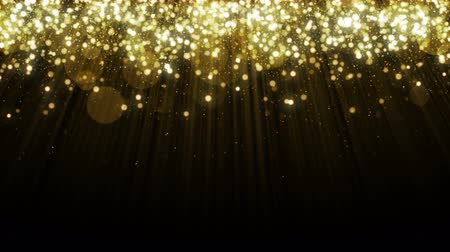 ouro : Particles gold glitter bokeh award dust abstract background loop