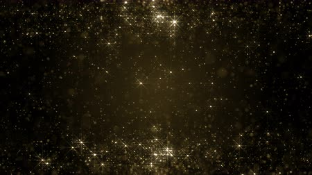 prach : Particles gold bokeh glitter awards dust abstract background loop