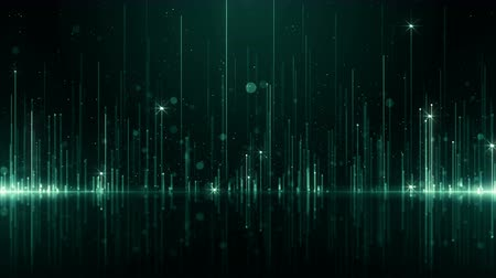 science background : Particles dust bokeh abstract light motion titles cinematic background loop Stock Footage