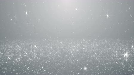 minimalista : Particles white business clean bright glitter bokeh dust abstract background loop