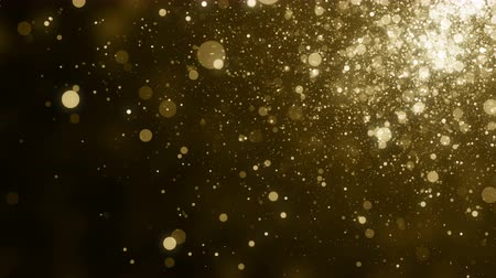 wedding and gold : Particles gold bokeh glitter awards dust abstract background loop