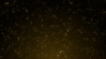 remise de prix : Particles gold bokeh glitter awards dust abstract background loop
