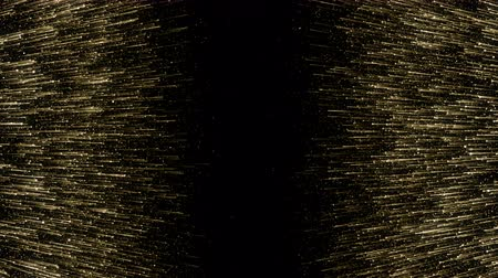 婚禮 : Particles gold bokeh glitter awards dust abstract background loop