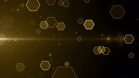 Hex particles medical grid hexagon pattern technology background loop