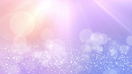 рождество : Particles pastel color business clean bright glitter bokeh dust abstract background loop