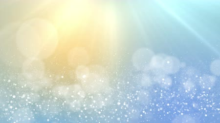 snow sparkle : Particles pastel color business clean bright glitter bokeh dust abstract background loop
