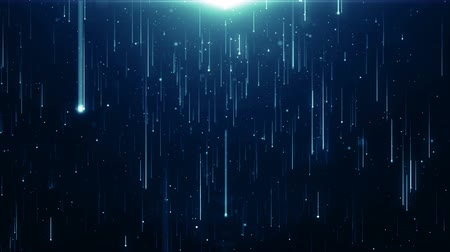 chemistry : Particles blue bokeh dust abstract light motion titles cinematic background loop