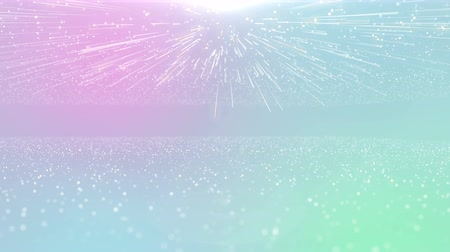 ミニマリスト : Particles pastel color business clean bright glitter bokeh dust abstract background loop