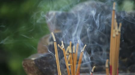 oblation : Incense sticks in the temple