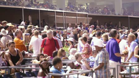 Crowd at Lone Star Park, Grand Prairie, Texas ready for 4th of july fireworks.