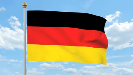 almanca : German flag waving