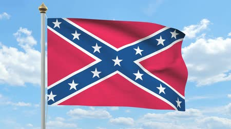 bandeira americana : Rebel confederate flag waving