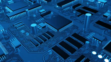 Доски : Electronic circuit board Стоковые видеозаписи