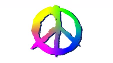 hostility : Ink dissolving in water, turns into peace symbol