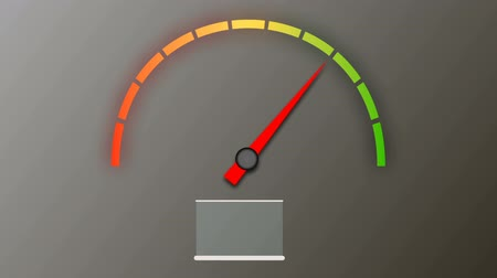 red symbol : tachometer with color values
