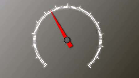 быстрый : Speedometer without numbers on the gradient background Стоковые видеозаписи