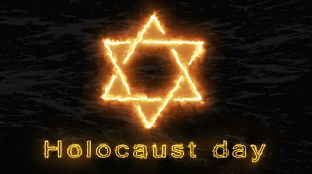 genocide : The Holocaust memorial day,a star of David on fire
