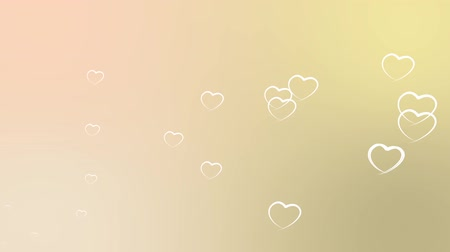srebro : Valentines day background with hearts - seamless loop