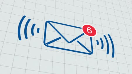 receber : Close up of e-mail inbox with multiple messages appearing in the mailbox Stock Footage