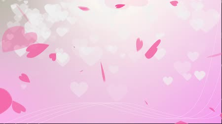 casa : heart shapes on bright background. computer generated seamless loop romantic animation