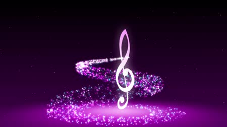 sonata : Animated background with musical notes Stock Footage